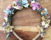 Dried flower crown headband