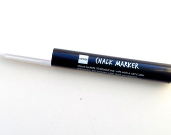White chalk marker / chalk pen
