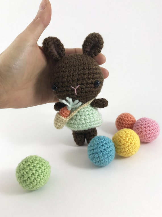 Crochet Chocolate Bunny Amigurumi Bunny Rabbit Stuffed