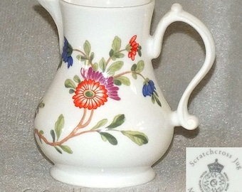 Vintage Royal Worcester Miniature Reproduction Scratchcross Jug from the Historic Collection commissioned by Compton & Woodhouse (ref 3092)