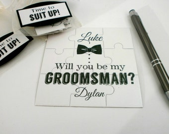 Be My Best Man card, Best Man Invitation card, Be my Groomsman card, Best Man puzzle card, Ask Groomsman,  Best Man Proposal Card