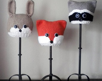 Woodland Animals Knit Hat Pattern