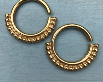 Mother India Ear Weights - 18ct Yellow Gold Plated - Ear Hangers for Stretched Lobes