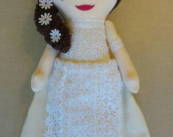 Custom doll reserved for Carol (First Communion doll)