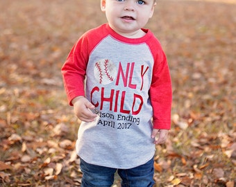 Only Child Season Ending, only child ending, baseball big brother, pregnancy announcement shirt, soon to be big brother