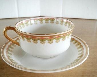 Haviland, Vintage Limoges, Made in France, Limoges Scroll Teacup, Vintage, Limoges Anniversary, Limoges, Haviland Co, Limoges France