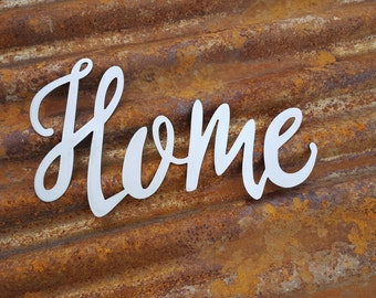 Home, Word Signs, Metal Word Sign, Farmhouse Decor, Rustic Sign, Rustic Metal Sign, Rustic Decor, Farmhouse Sign, Metal Sign, Farmhouse Sign