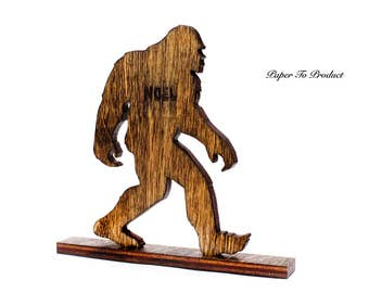 Yeti Sasquatch Big Foot Skunk Ape Laser Cut & Engraved Desk Office Award Trophy Statue
