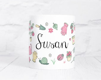 Personalised Gardening Mug - Those who Grow Collection - Gift for Gardeners