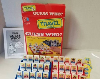 Vintage 1989 Milton Bradley GUESS WHO Game Travel Edition