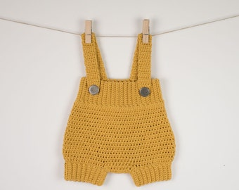 CROCHET PATTERN - Crochet Baby Romper /Onesie /Playsuit - Babay Overall - PDF
