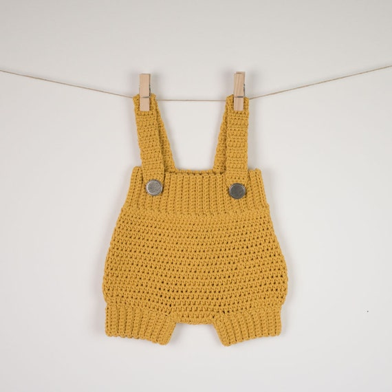 Free Crochet Patterns For Baby Onesies : CROCHET PATTERN Crochet Baby Romper /Onesie