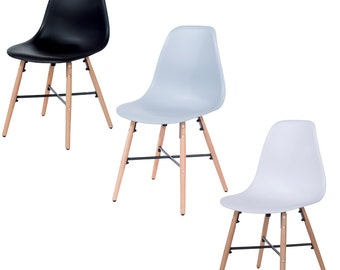 Enzo Dining Chair Modern Contemporary School Style Designer Chair DSW DAW Inspired Chair Eames Modern Chair (SINGLE)