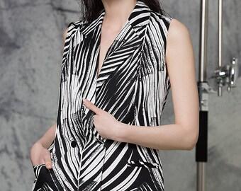 Mayra Printed Cotton Vest