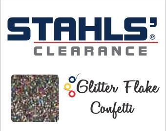 "20"" Stahls' Glitter Flake - Craft Roll - Iron-On Heat Transfer Vinyl - HTV - Confetti - 5, 10, 25, 50 Yards or 12"" x 20"" Sheets"