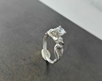 Naked woman ring II. - Sterling silver - Free shipping
