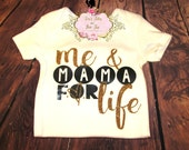 Me and Momma For Life Onesie. Mother and Daughter Onesie. Girls Onesies