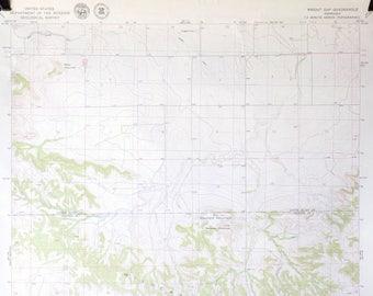 Vintage Map of Nebraska / Vintage 1970's / Topography Map / Wildcat Hills / Geological Map