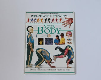 Childrens Book Science Your Body Picturepedia DK Dorley Kindersley Vintage Elementary Middle School Student Library Home Schoolingg