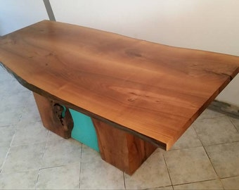 Rustic Kitchen Table - Live Edge furniture