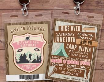 camping invitation, camping party birthday invitation, summer camping birthday invitation, camping invitation, camping birthday invite