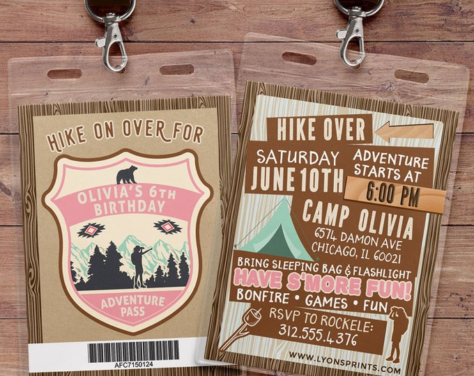 camping invitation, camping party birthday invitation, summer camping birthday invitation, camping invitation, camping birthday invite