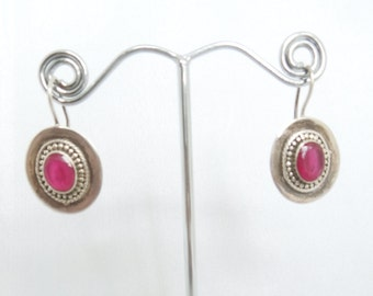 Sterling Silver Earrings, 925 stamped, hanging earrings - Indian Style