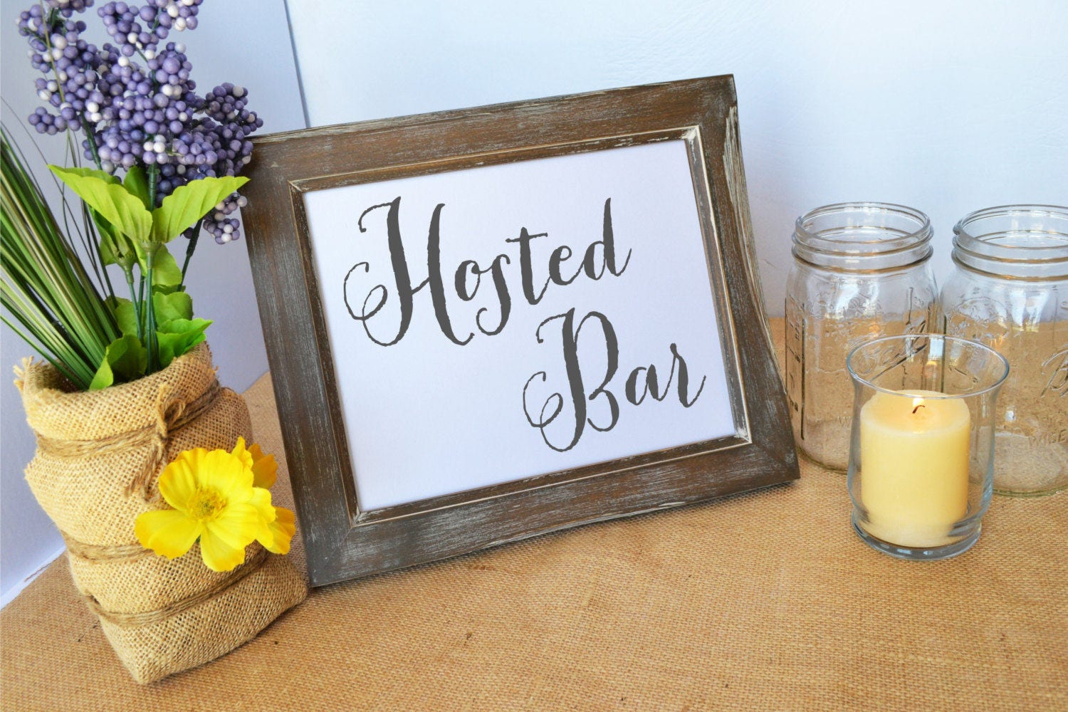 Wedding Sign Open Bar Alcohol Wedding Signage Bar Sign For
