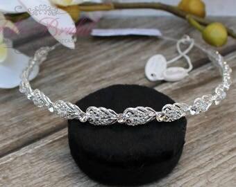 FAST SHIPPING!! Gorgeous Bridal Headband, Bridesmaid Silver Swarovski Headband, Crystal Headband, Swarovski Headband, Silver Headband