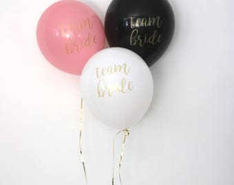Team Bride Balloons, Bachelorette Balloons, Bachelorette Party Decorations, Bridal Shower Decorations, Bachelorette Party, Set of 3 Balloons