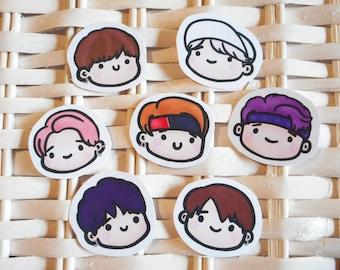 BTS Not Today - Sticker Set