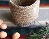 Navy Blue, Medium Basket with Handles, Easter, Fruit & Veggie, Harvest, Nature, Garlic, Onion, Gift Basket, Rustic Decor, Catering Style