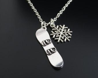 Snowboarder Necklace, Snowboarder Charm, Snowboarder Pendant, Snowboarder Jewelry, Snowboard Jewelry, Snowboard Charm, Snowboard Gifts