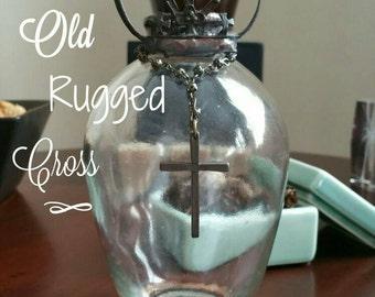 Rustic hand soldered crown decorative  bottle