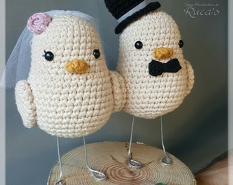 Amigurumi pattern: Bride and groom birds