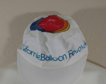 Vintage 80's 90's California Hot Air Balloon Festival Hat Easter Seals Stretch