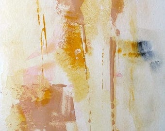 Mello by Yu Polch - Original Abstract Painting Light Yellow