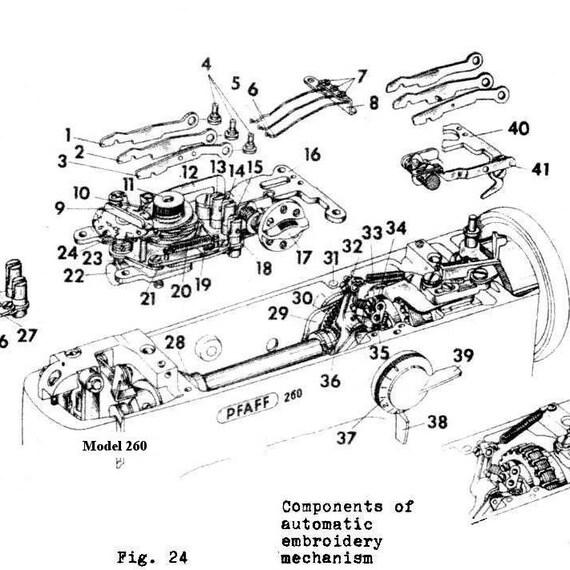 pfaff service manual shop manual 260 262 360 362 repair overhaul sewing machine guide from