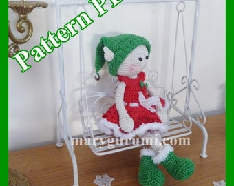 "Crochet Pattern, pattern, tutorial, Amigurumi doll, Bénédicte ""Sprite"""