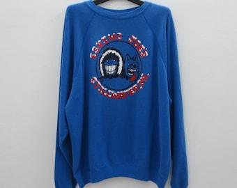 Eskimo Joes Sweatshirt Vintage Eskimo Joes Pullover Eskimo Joe's Stillwater OK by Hanes Oversize Men Size XXL