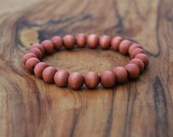 Roasted Wood - 8mm Wooden Bead Bracelet