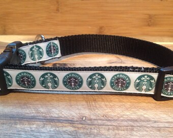 STARBUCKS Adjustable Dog Collar