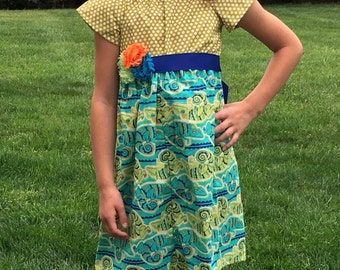 Lizard Gecko Dress matching children mommy and me match dresses boy girl portrait set family outfits brother sister