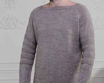 Hand Knit Men's Sweater. Hand Knitted Sweater. Men Knitted Sweater. Knitted Men Jumper. Badass Sweater. Men Jumper. Jumper For Him. Menswear