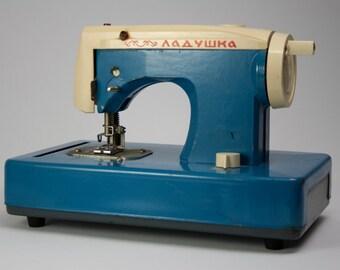 "Sewing Machine Toy ""Ladushka"", vintage soviet toy sewing Maschine, Vintage toy, ussr, soviet era sewing machine toy, vintage decor,"
