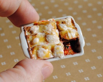 Realistic Miniature Lasagne for Dollhouse 1:12 scale