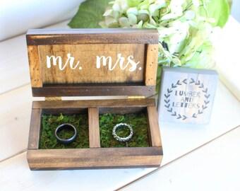 wedding ring box wedding ring box rustic ring bearer box handmade ring box - Wedding Ring Box