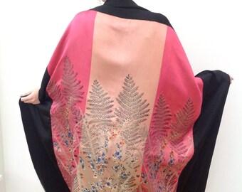 Superb 1920s shawl lamé Art Deco oriental antique vintage
