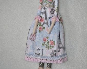 Handmade Tilda Doll - French Doll