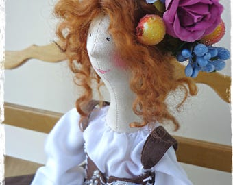 Textile interior doll tilde in the style boho